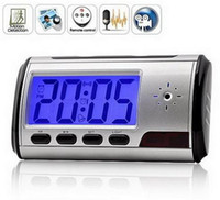 Wholesale Vip Links Clock Style Digital Spy Camera with Motion Detector Remote Control