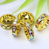 ab circle - Promotion mm Crystal AB Rhinestone Spacer Finding Loose Circle Beads