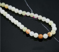 Wholesale mm light mottle green Jade Beads beads loose ballpoint bead mix color