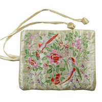 silk brocade jewelry roll bag - Gorgeous Multipurpose Jewelry Packaging Travel Roll Bag Cotton filled Silk Embroidery Storage Pouches mix color