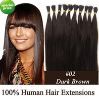"100S 18"" 0. 5g Stick tip hair remy Human Hair Extensions..."