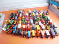 5-7 Years Train & Railway Train Set Wooden Free shopping TRAIN & CAR LOT OF 70pcs wooden Complete set of car toy train toys (1set=70pcs)
