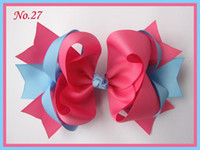 Wholesale about quot Girls Hair Accessories Baby hair bows hairs clips grosgrain ribbon bows hair bow NO c23