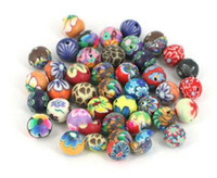 Wholesale 8 mm POLYMER CLAY Clay Beads loose ballpoint DIY Bracelets Necklaces mix color