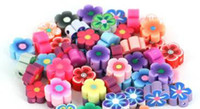 Wholesale 5 mm POLYMER CLAY Clay plum blossom flower beads DIY Bracelets Necklaces mix color