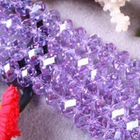 perles de pierres mauves achat en gros de-140pcs Elegant Purple Swarovski Crystal Gemstone Loose Beads 6mm