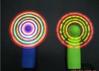 Wholesale Novelty Mini Multi LED Color Changing Light Up Travel Cool Fan Kids toys fans toy