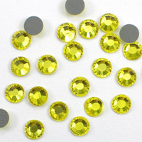 Wholesale 144pcs Hotfix Hot Fix Rhinestone SS34 PERIDOT