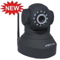 Wholesale Foscam Wireless WiFi IP Internet Network Pan Tilt Security Camera S47B Two way Audio Support IE