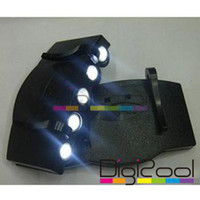 Wholesale 5 LED Clip on LED Light Cap Hat for Fishing Camping Hiking New Hot