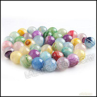 Wholesale Elegant Jade Beads Smooth Stripe Mixed Color Fit Making Bracelet Necklace Strings