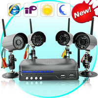 Wholesale IP Security Camera Server with Wireless Cameras CCTV homealarm