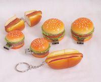 Wholesale Food series Originality GB Hamburger USB flash drive pendrive