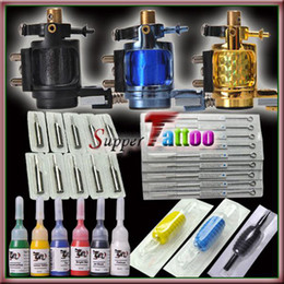 Wholesale Tattoo Kit Motor Rotary Tattoo Machines Guns Colors Ink Beginner Use