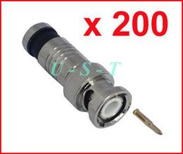 BNC MALE COMPRESSION COAX CONNECTOR RG59 CCTV 200PCS
