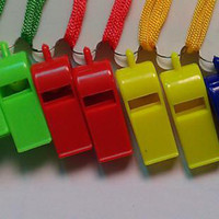 Wholesale low price Color plastic whistle part basketball outdoors whistle by EMS