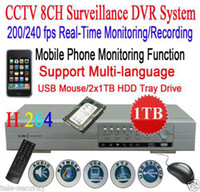 Wholesale CCTV TB CH H Audio Video Net DVR Standalone DVR