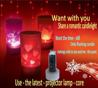 Wholesale Accesso Second generation craft jewelry romantic candle light candle Full House Sound Projector Lamp