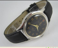 automatic drill - Shanghai mechanical watches mechanical watches drill numerals men s watch black Leather belt