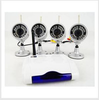 Wholesale HOT Wireless cctv dvr system one USB port receiver with four infrared waterproof cameras W802Z4 S247