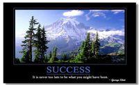 Wholesale Motivational Inspirational Art Poster Silk canvas Poster wall poster quot SUCCESS quot
