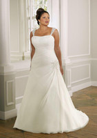 Wholesale Chiffon Square Sweetheart A Line Plus Size Bridal Gowns Wedding Bridesmaid Prom Dress Dresses W185
