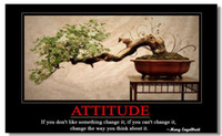 Wholesale Motivational Inspirational Success Art Poster Silk canvas Poster wall poster x13 quot quot ATTITUDE quot