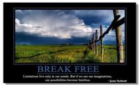 Wholesale Motivational Inspirational Success Art Poster Silk canvas Poster wall poster x13 quot quot BREAK FREE quot