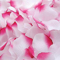 Wholesale 2000 white amp hot pink silk rose petal petals wedding favors party decoration
