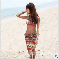 Women Bikinis Geometric swimwear import fabric army wind fission bikini bathing suit China female, dyer 3113