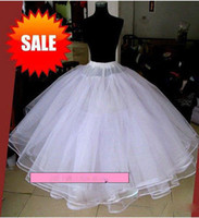Wholesale Six layer hoopless dress petticoat boneless bridal petticoat white wedding petticoat wedding gown petticoat