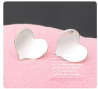 Wholesale Earring Smooth Peach Heart Heart shaped Stud Earrings Knot Fashion Jewelry China Jewelry