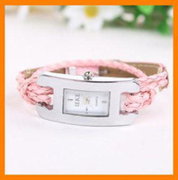 Wholesale 110 Hand woven wrap leather rope watch Ladies Watches women s wrirstwatch bracelet watches