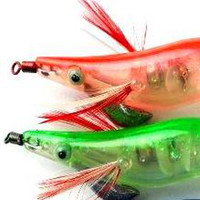 Wholesale Luminous Squid Jig Shrimp FishLures Fishing Hooks Bait Gear Tackle