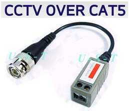 CCTV Cat5 Passive Balun Video Camera DVR BNC 200pcs (100pair) Express free shipping High quality