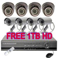 8 armor bullets - 8 CCTV CCD Armor Dome Camera H Net DVR TB System