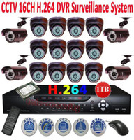 Wholesale CCTV CH SONY CCD Camera H Net Security DVR System