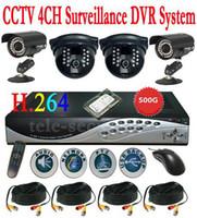 Wholesale CCTV ch G Net DVR CCD IR Camera Security System