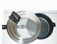 Wholesale Universal Lid Anti Splash Lid Stainless Steel Upright Handle for Kitchen UPS