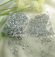 Wholesale Hot On Sell New Arrival set mm Diamond Confetti SILVER Wedding Party Decor