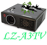 Wholesale LZ A3TV ANSI Lumens Projector for Home Theater DVD TV Laptop digital projector pc