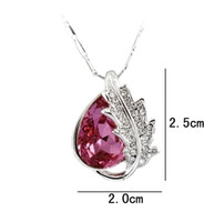 6 piece Lot Jewelry fashion Crystal maple leaf pendant Color...