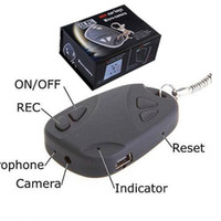 Wholesale New Car Keys mini dv DVR Support TF Card hidden Camera spy