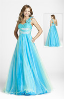 Wholesale Custom Made New Prom Dresses Sweetheart Beadings One Shoulder Evening Dresses SI15