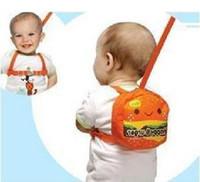 baby reins backpack - 25pcs Orange Baby Walkers keeper safety harness Backpack Strap Toddler Reins Backpack happy burger