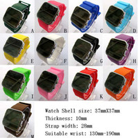 Wholesale 10 New Luxury Sport LED Digital Date Lady Men Watch Mirror Fashion Watches Silicone Watch