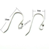 jewelry findings - Sterling Silver Earring Hooks Finding For DIY Craft Jewelry mm W045
