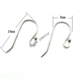 Wholesale Sterling Silver Earring Hooks Finding For DIY Craft Jewelry mm W045