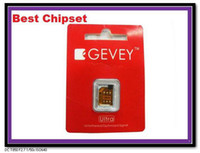 Wholesale Gevey Ultra BEST Chipset Untethered turbo sim unlocking Card No with MicroSim Sticker Guide