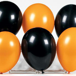 200 Pcs Latex Black & Orange Balloon Wedding Favor Party Decorations New